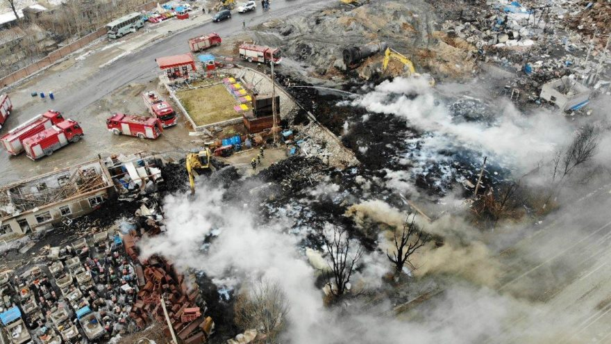 Çin'de fabrikada patlama: 2 ölü, onlarca yaralı