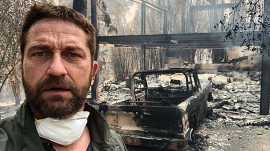 Görüntüler korkunç: Hollywood yıldızlarının evleri kül oldu