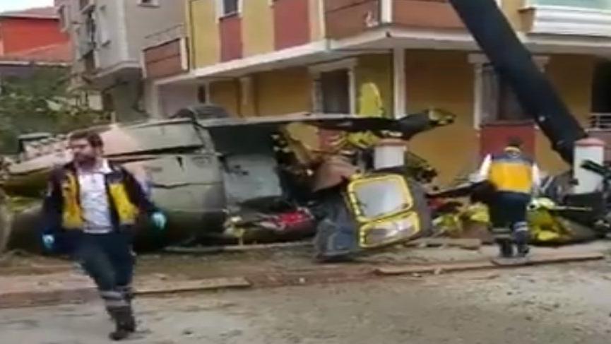Son dakika... İstanbul'da askeri helikopter düştü: Dört asker şehit