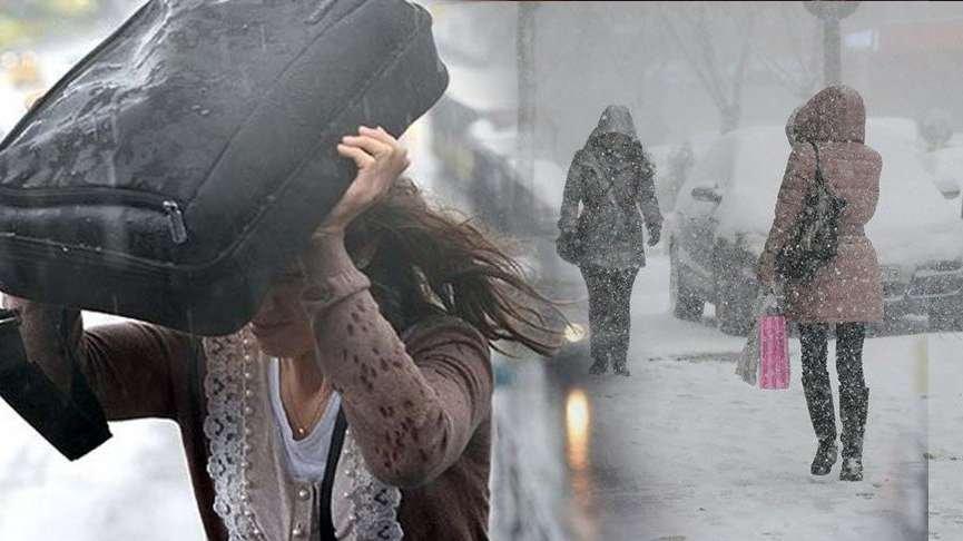 Meteoroloji'den hava durumu tahminleri! Kar, yağmur,soğuk! Günlerce sürecek…