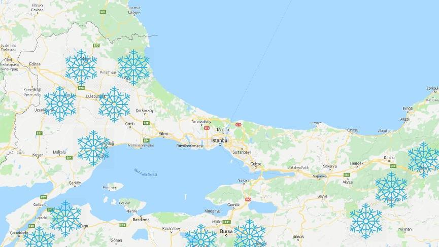 Kar İstanbul sınırlarını sardı! Meteoroloji'den son dakika hava durumu tahminleri...