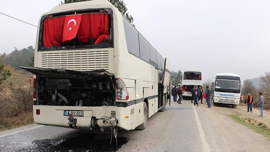Öğrencileri taşıyan gezi otobüsleri kaza yaptı: 11 yaralı