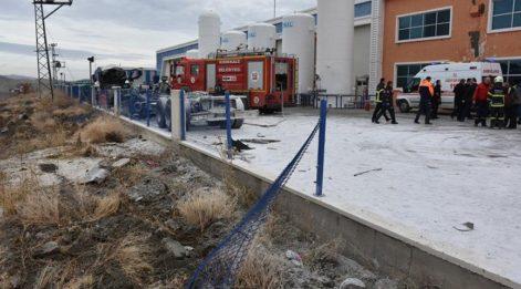 Kırıkkale'de gaz dolum tesisinde patlama