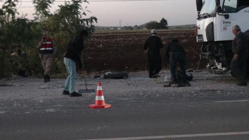 Kilis'te kaza: 1 polis yaralı