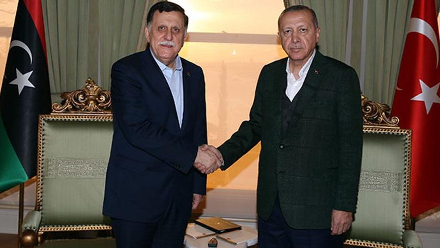Erdoğan, Al-Sarraj ile görüştü