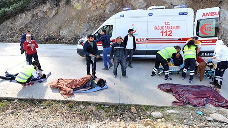 Trabzon'da korkunç kaza! Yaralılar var
