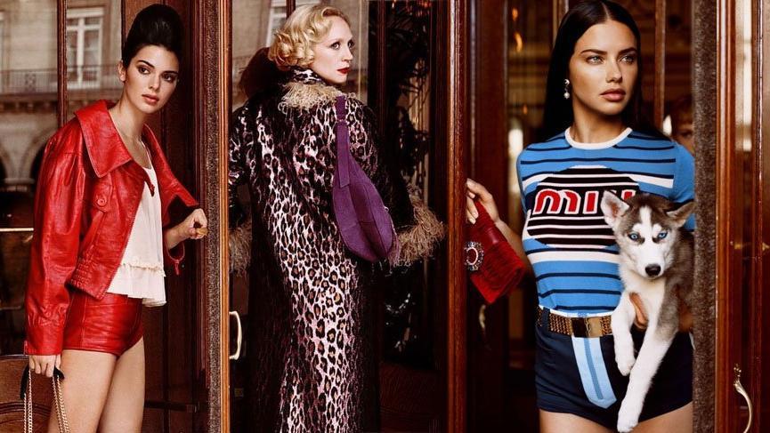 Adriana Lima, Kendall Jenner, Taylor Hill ve Gwendoline Christie Miu Miu için bir araya geldi