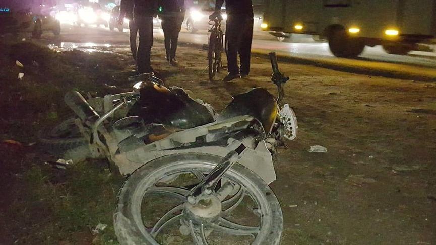 Motosiklet yayaların arasına daldı: 1 ölü, 3 yaralı