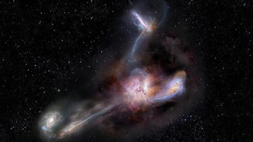 Bunun adı galaktik yamyamlık! Evrendeki en parlak galaksi komşularını yiyor