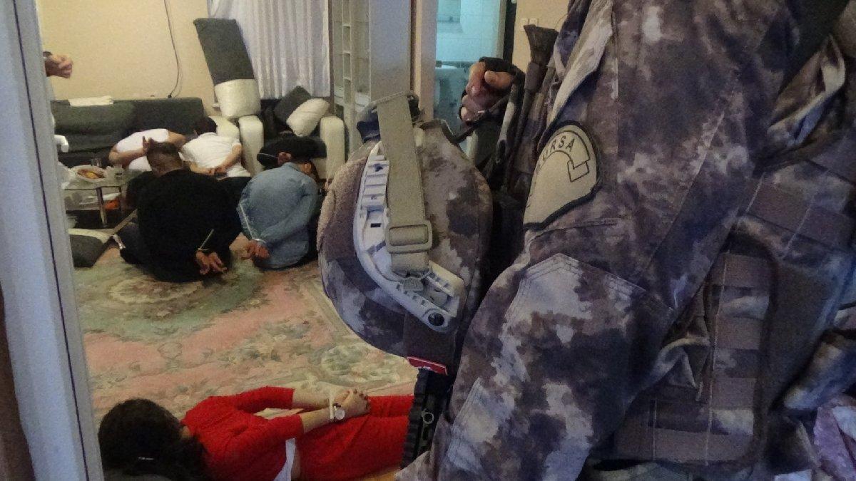Bursa merkezli yapılan uyuşturucu operasyonunda 14 tutuklama