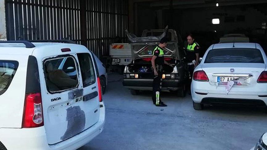 Antalya'da drift yapıp kaçan sürücüye 7 bin 696 lira ceza