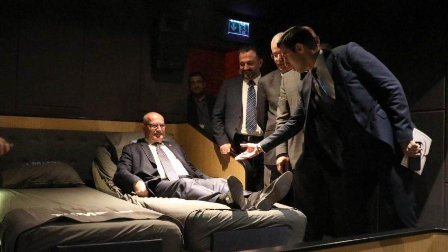 Ankara'da bir ilk! 'Yataklı Sinema'