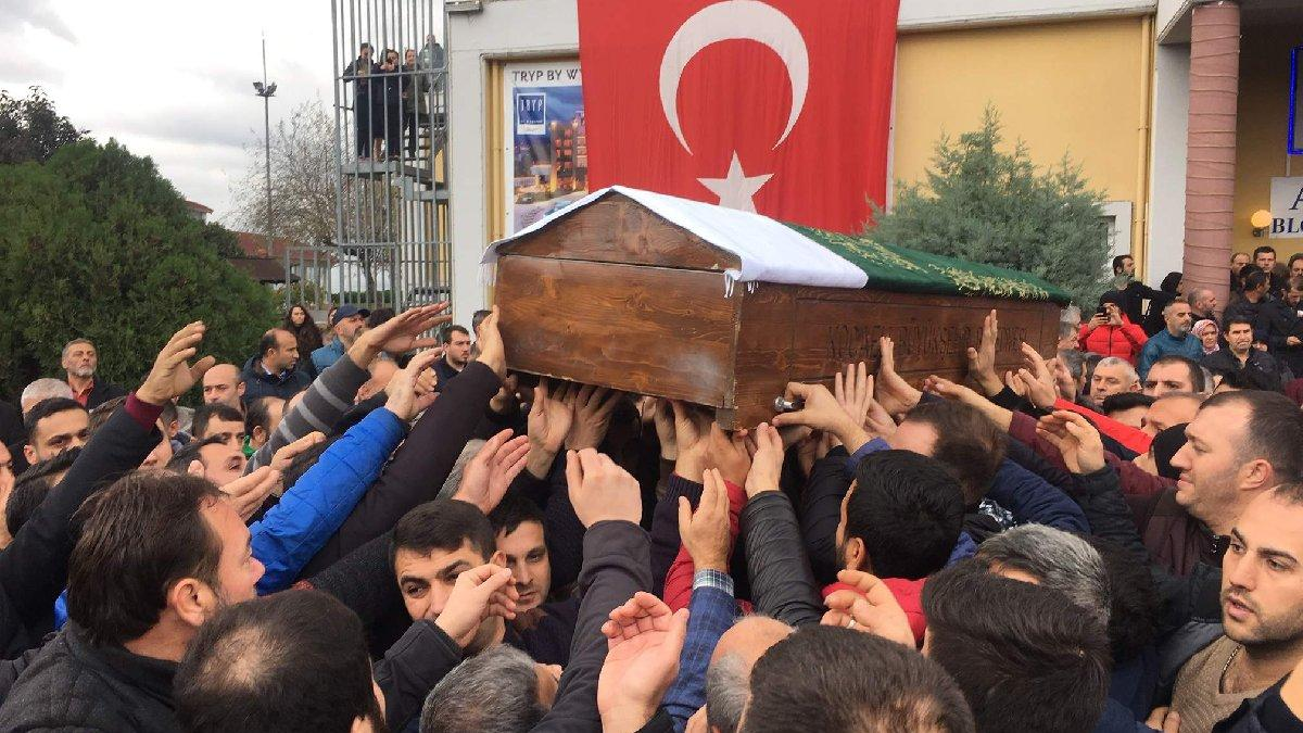 Sendika üyeleri, öldürülen başkanları Karacan'a veda etti