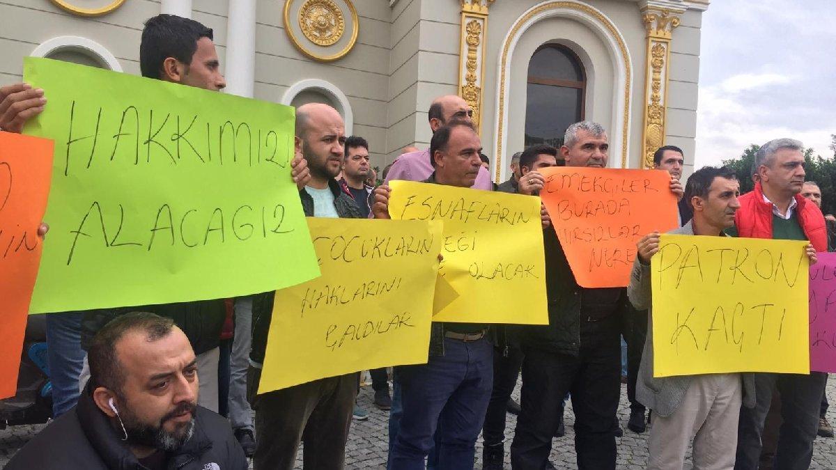 Mardan Palace'da işçi eylemi