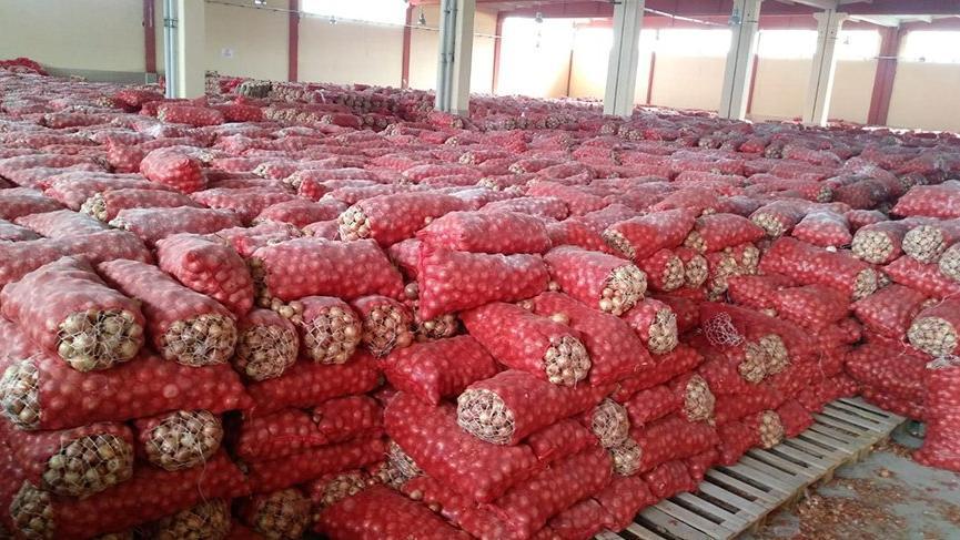 Ankara'daki soğanlar yediemine teslim edildi