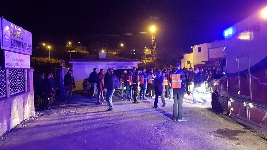 Siirt'te öğrenci yurdunda gaz sızması: 53 öğrenci etkilendi