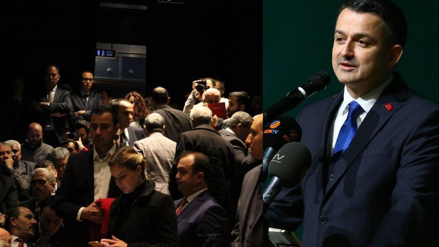 Tarım Bakanı Konya'da protesto edildi