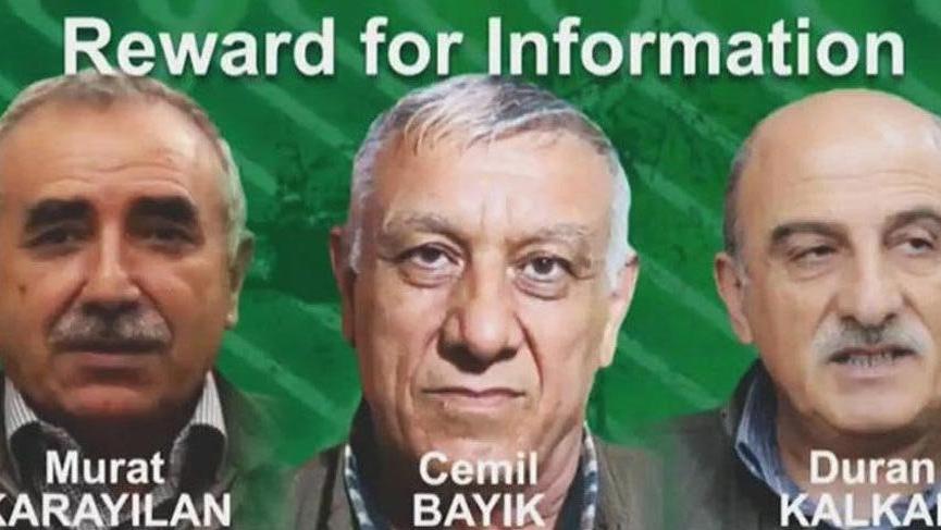 ABD, PKK'nın elebaşları başları için 64 milyon TL ödül koydu