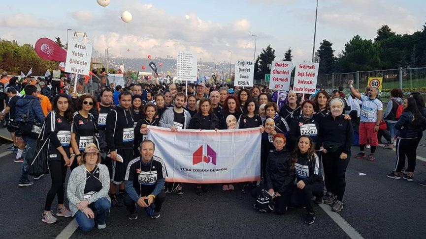 Avrasya Maratonu'nda 'Sağlıkta şiddet sona ersin' mesajı
