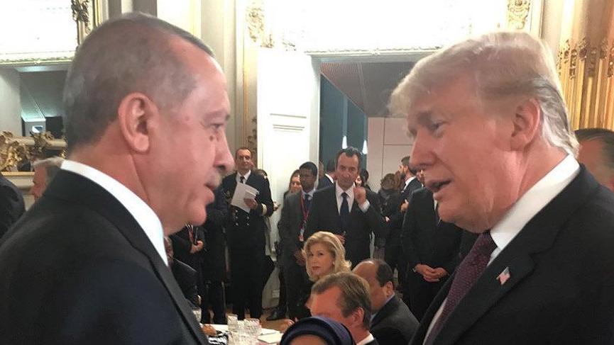 Son dakika… Erdoğan, Trump ile yüz yüze görüştü