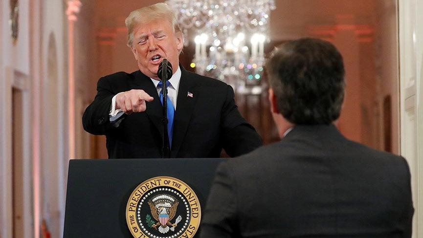 Trump ile gazeteciler arasında ilginç diyalog