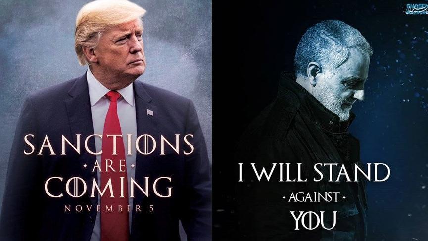İran'dan Trump'ın yaptırım görseline jet yanıt!