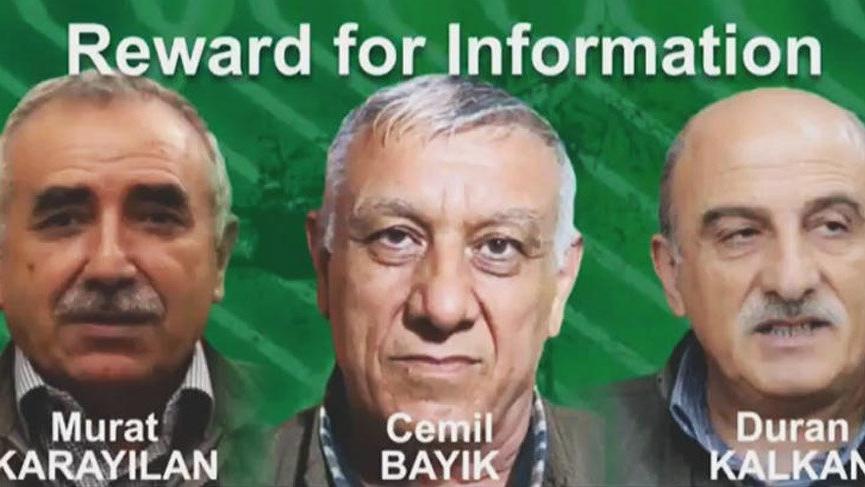 SON DAKİKA: ABD, PKK'nın elebaşları için 12 milyon dolar ödül koydu!