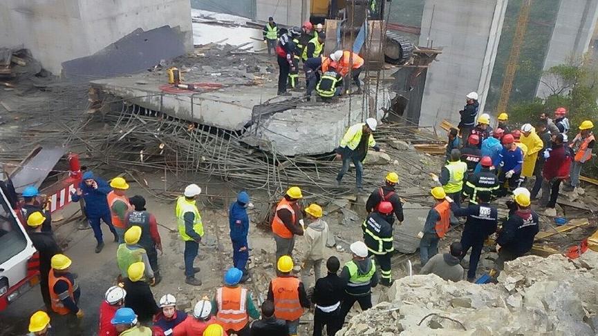 Son dakika... Viyadük kazasında bir işçinin cansız bedenine ulaşıldı