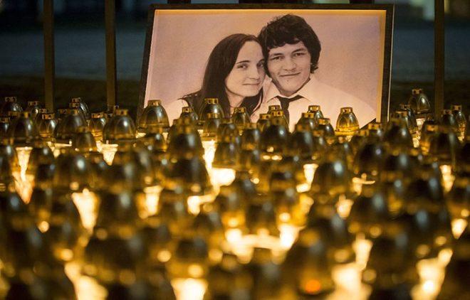 Kuciak ve sevgilisi öldürüldükten sonra anma etkinlikleri düzenlendi.
