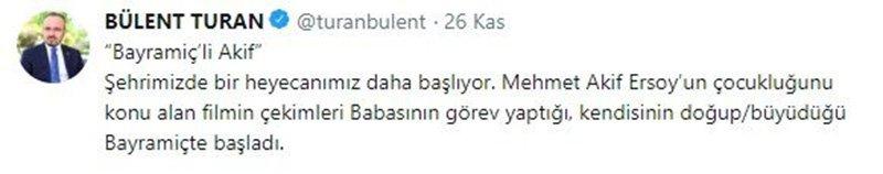 AKP Grup Başkanvekili ve Çanakkale milletvekili Bülent Turan'ın paylaşımı tartışmanın fitilini ateşledi. Foto: Sözcü