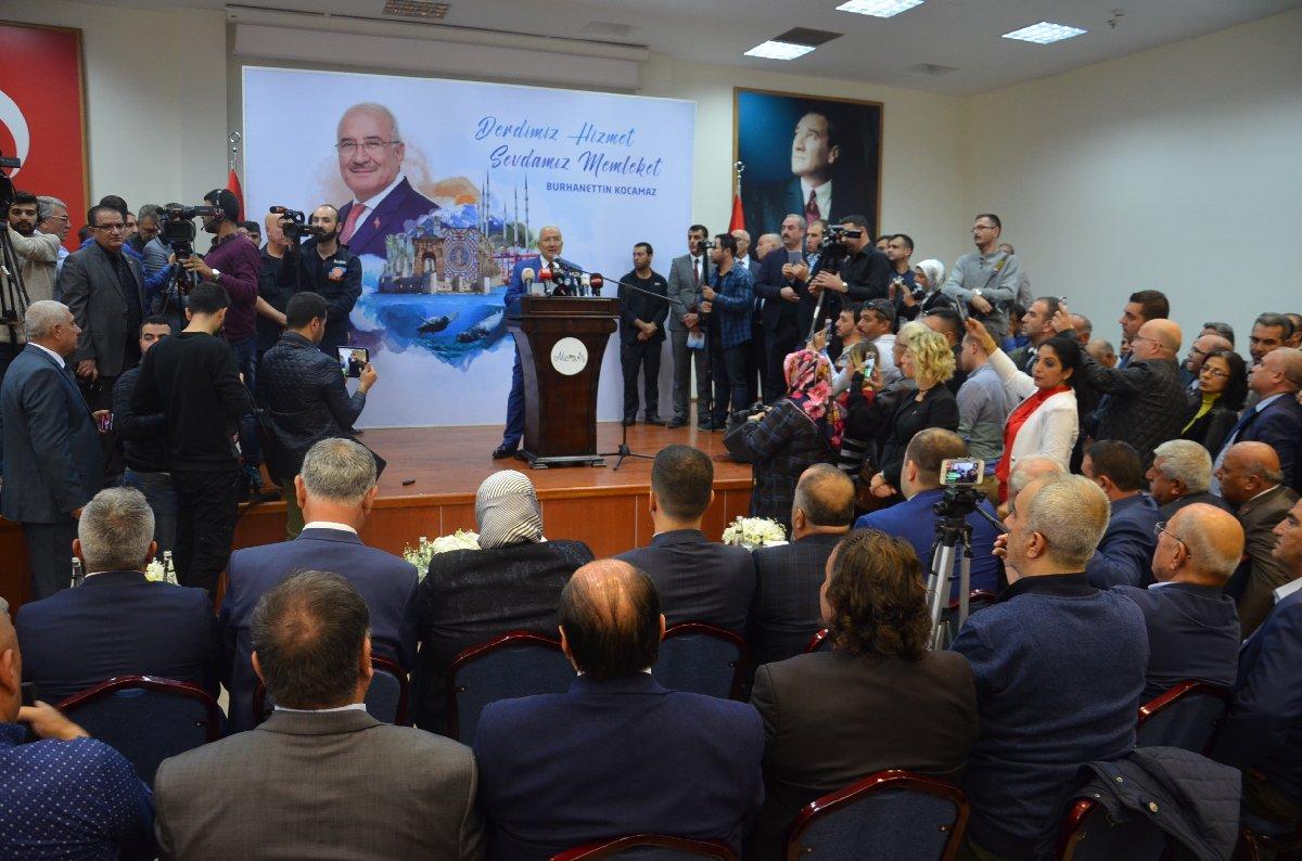 FOTO:SÖZCÜ- Kocamaz, istifa kararını düzenlediği basın toplantısında açıkladı.