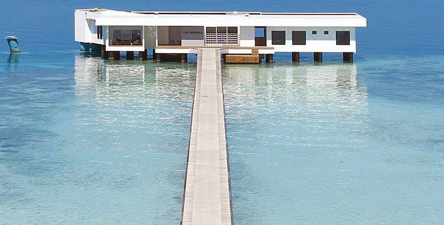 Müşteriler otelin su üstündeki bölümünde de konaklayabiliyor.