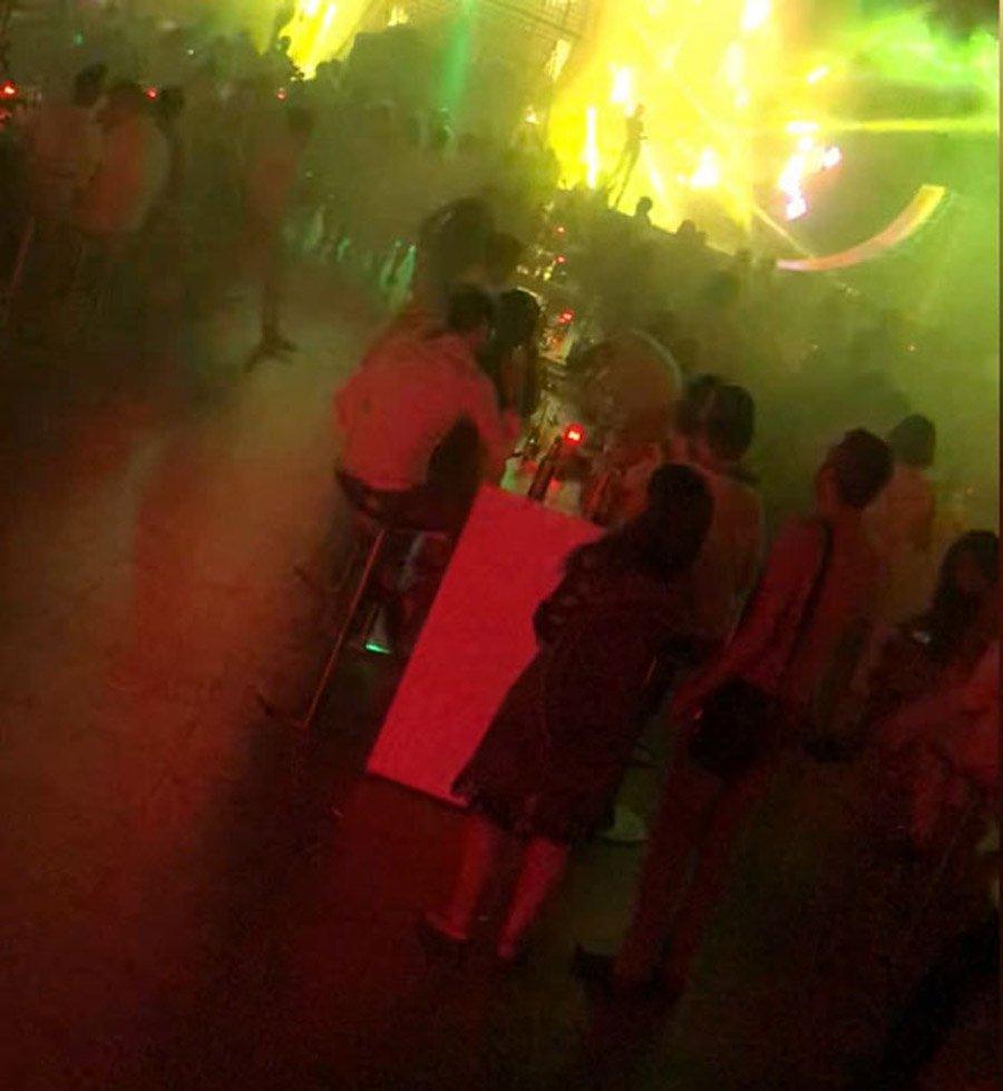 Lüks yattaki partinin görüntüleri ortaya çıktı.