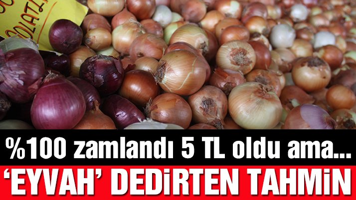 Son dakika: Soğanın fiyatıyüzde yüz zamlandı! Korkutan tahmin…