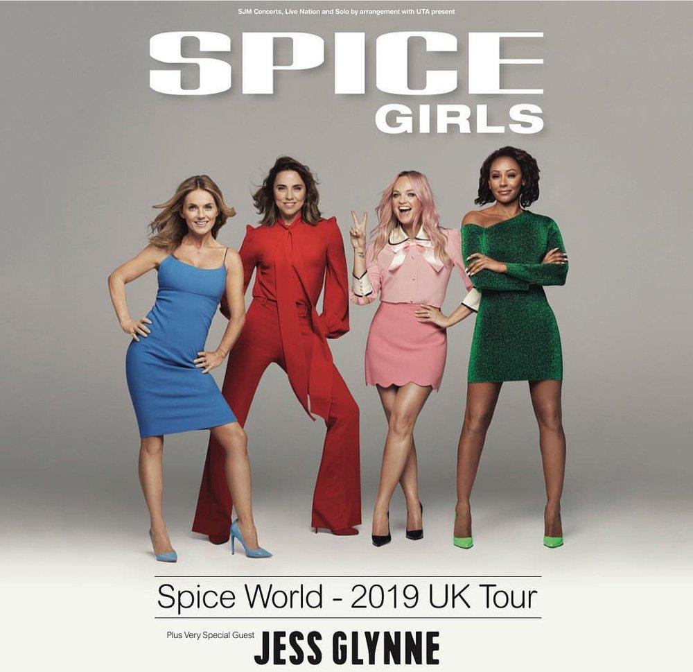 Victoria Beckham'sız Spice Girls'ün turne afişi de hazır...