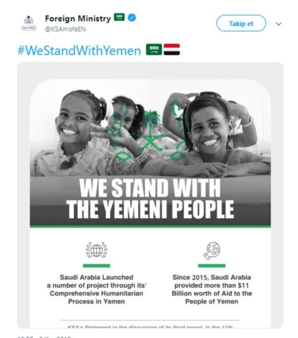'Yemen halkının yanındayız' mesajı.