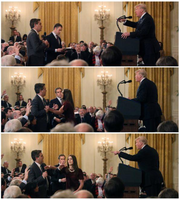 Trump ve Acosta arasındaki gerilim böyle görüntülendi.