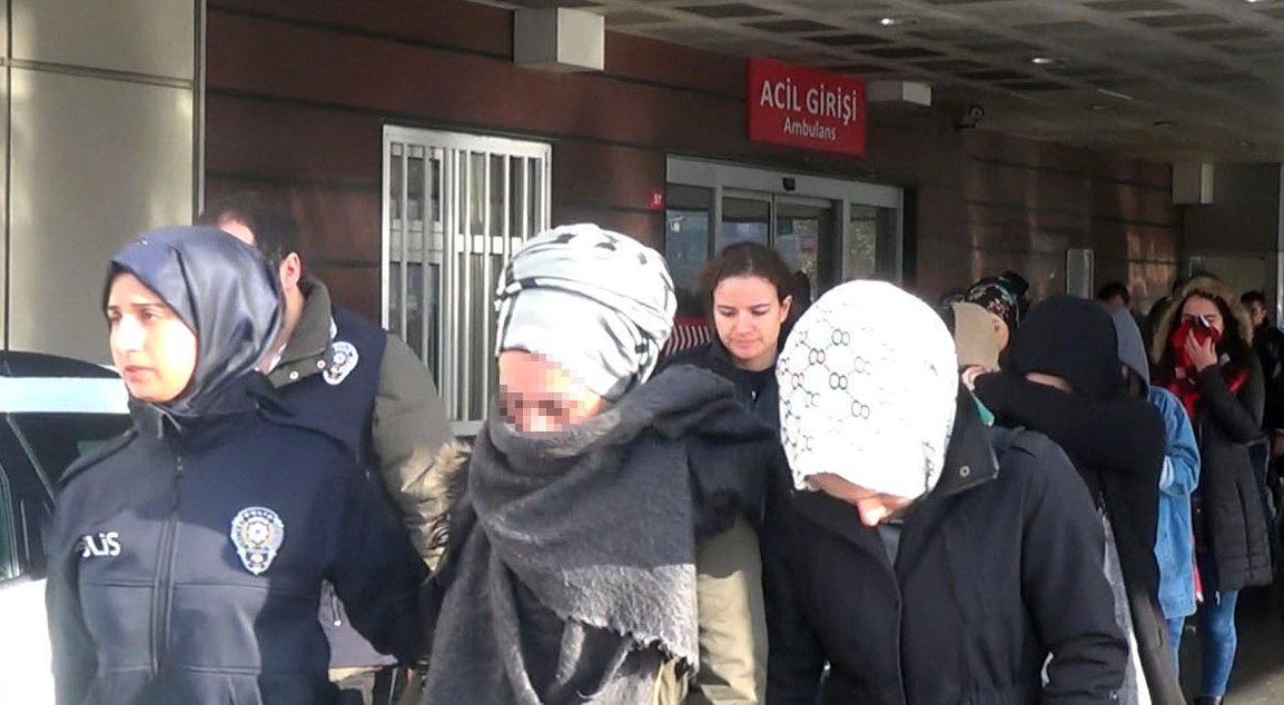 Tutuklanan şahıslar cezaevine gönderildi.