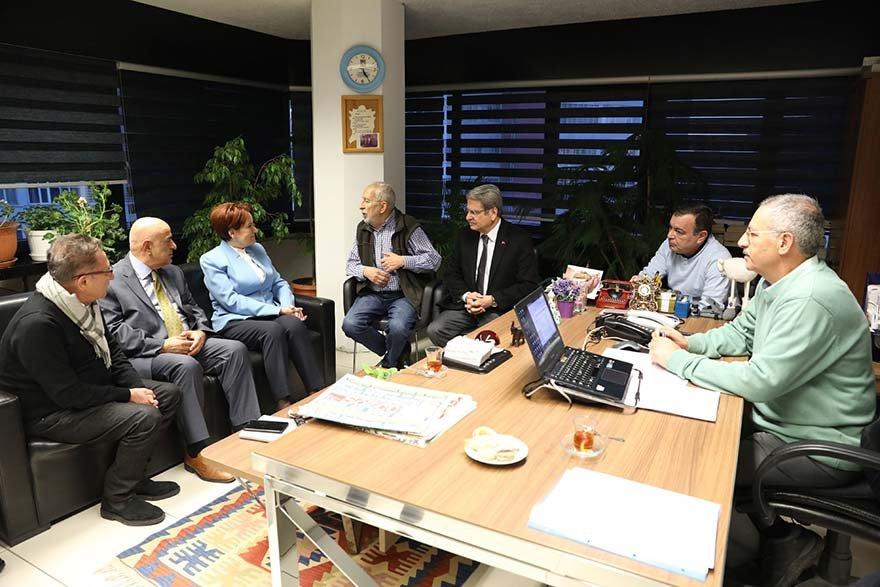 FOTO: SOZCÜ -CHP VE İYİ PARTİ'DEN SÖZCÜ'YE DESTEK ZİYARETİ