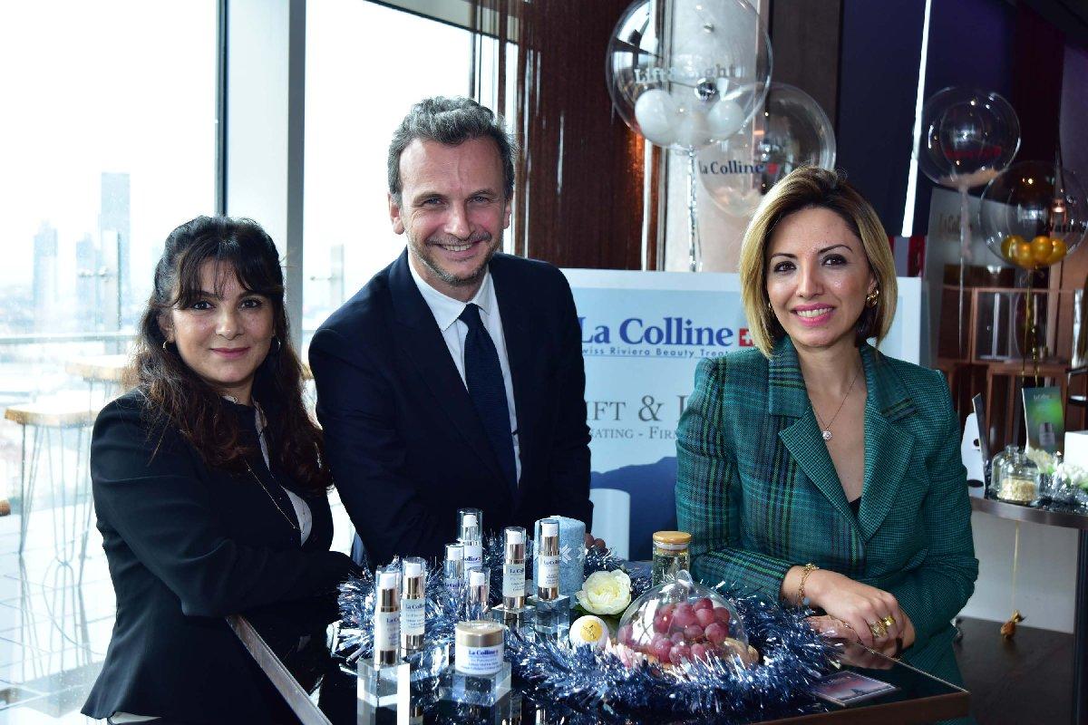 MM Grup Genel Müdürü Claudia Mosele Han, La Colline CEO'su Ghislain Pfersdorff, Boyner Büyük Mağazacılık Kozmetik Direktörü Dilek Çağlayan Değirmenci