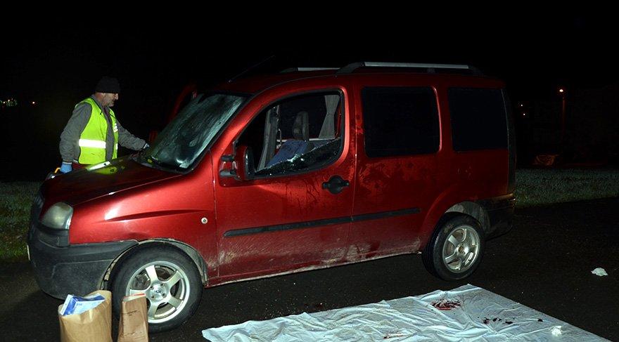 Evlilik hazırlığı yapan çift otomobilde silahlı saldırıya uğradı. Foto DHA