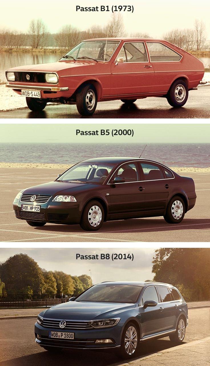 Volkswagen Passat'ın üç jenerasyonu