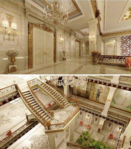 OSMANLI MİMARİSİNİN İZLERİNİ TAŞIYACAK Akıllı nikah sarayı, Osmanlı mimarisi ile çağdaş mimarinin sentezi olarak planlandı.Tanıtım broşürlerine göre nikah sarayının içi böyle olacak.