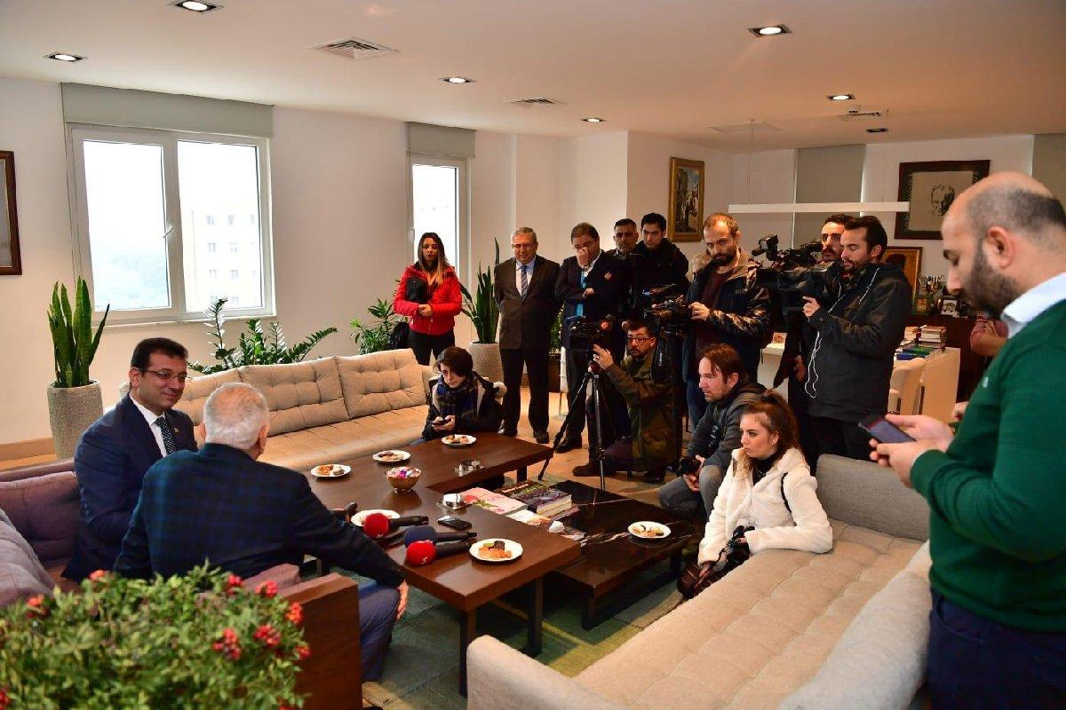 FOTO:SÖZCÜ - Ekrem İmamoğlu ilk ziyaretini Bedrettin Dalan'a yaptı.