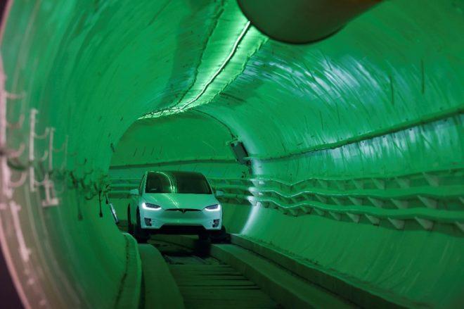 Aracın tüneli geçişi böyle görüntülendi.