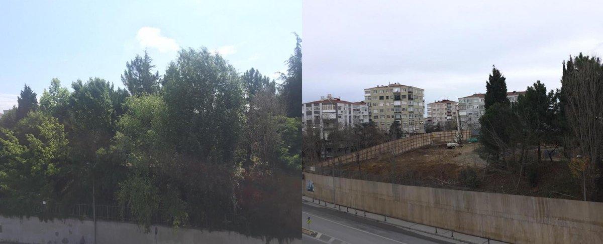 Arazinin önceki ve şimdiki hali...