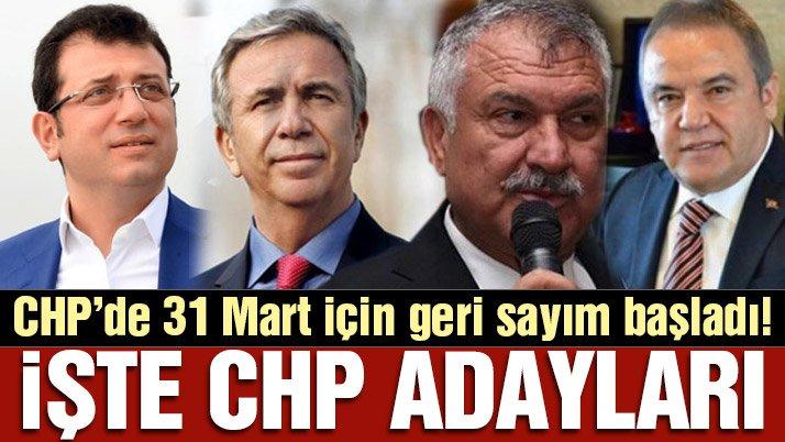 Son dakika: İşte CHP'nin belediye başkan adayları!