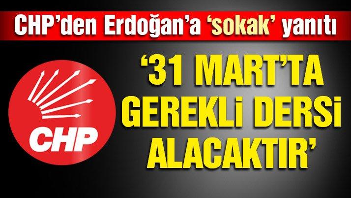CHP'den sert 'sokak' açıklaması! | Son dakika haberleri