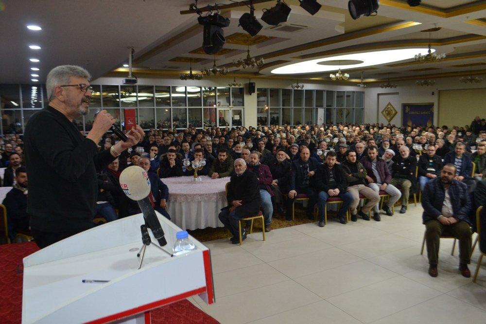 FOTO:SÖZCÜ - Cihangir İslam, İnegöl'deki konferansta gündeme dair açıklamalarda bulundu.