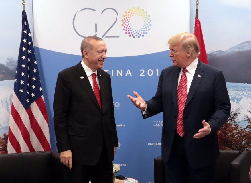 Erdoğan ve Trump Arjantin'in Buenos Aires kentinde bir araya geldi. AA
